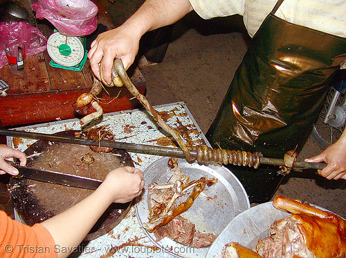cooked dog blood sausage, butcher, carcass, cooked dog, dog blood sausage, dog meat, food dog, intestin, lang sơn, meat market, raw meat, street market