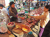 dog meat shop - vietnam, butcher, carcass, dead dog, dog meat, dogs, food dog, lang sơn, raw meat, street market